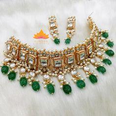 Green Kundan Choker Set
