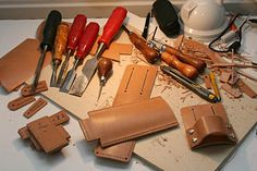 Acually leather job... But to care for wood tools! - by mafe @ LumberJocks.com ~ woodworking community