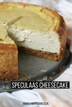 Speculaas cheesecake – OhMyFoodness – Food And Drink Dutch Recipes, Sweet Recipes, Cheer Cakes, 4 Ingredient Recipes, Salty Cake, Pie Dessert, Savoury Cake, Holiday Desserts, Cheesecake Recipes