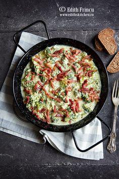 Bautura racoritoare cu kiwi - Edith's Kitchen Edith's Kitchen, Broccoli Alfredo, Food To Make, Bacon, Cheesecake, Food And Drink, Low Carb, Cooking, Breakfast