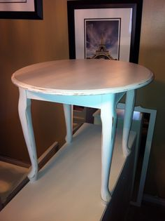 Distressed white occasional table just refinished