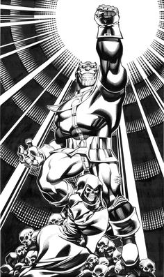 Thanos and Death by ChristopherStevens on DeviantArt