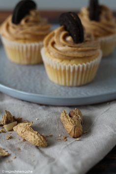 Cupcakes mit Erdnussbutterfrosting