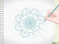 3 formas de dibujar mandalas - wikiHow Mandala Doodle, Mandala Art Lesson, Mandala Drawing, Ukulele Design, Doodle Art Designs, Zentangle Patterns, Zentangles, Mandala Coloring, Diy Arts And Crafts