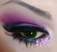 Pink Glitter Makeup #makeup, #maquillage, #makeover, #pinsland, https://apps.facebook.com/yangutu