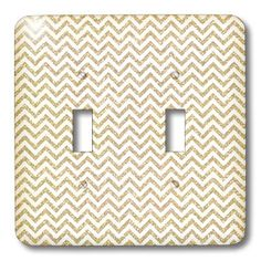 Chevron Faux Glitter image of glitter - Light Switch Covers - double toggle switch