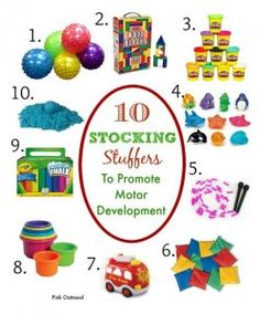 OT Corner: Stocking Stuffers To Promote Motor Development - pinned by @PediaStaff – Please Visit  ht.ly/63sNt for all our ped therapy, school & special ed pins