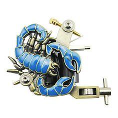 empaistic tattoo machine - aluminium blauwe schorpioen kader – EUR € 12.37