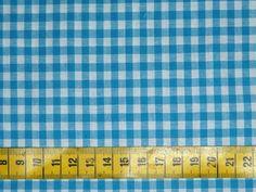 Ruitjes - katoenen ruitjesstof felblauw-wit, ruitjes van ca. 0,5 cm