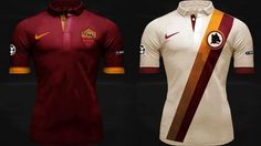Uniformes do Roma para a temporada 2014 - http://www.colecaodecamisas.com/uniformes-roma-nike-temporada-2014/ #colecaodecamisas #Kappa, #Nike, #Roma