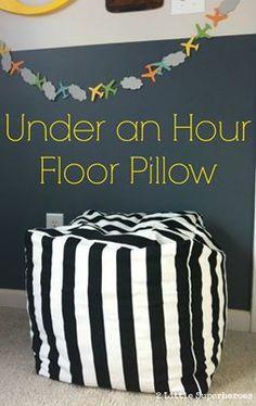 One Hour DIY Bean Bag Chair http://www.diyhomeworld.com/one-hour-diy-bean-bag-chair/