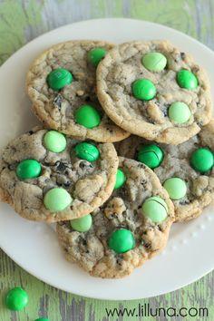 mint MandM and Oreo cookies
