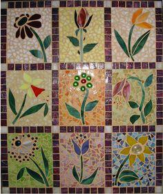 Mosaic flower quilt