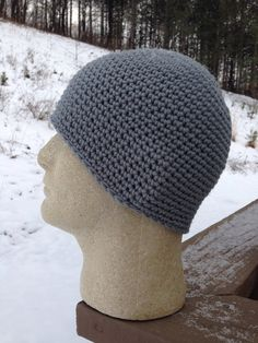 The Perfect Tight SEAMLESS BEANIE GRAY on Etsy, $24.00