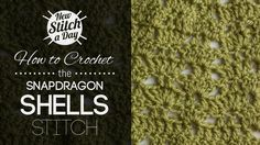 Crochet Tutorial: How to Crochet the Snapdragon Shells Stitch. To learn this stitch, click the link: http://newstitchaday.com/how-to-crochet-the-snapdragon-shells-stitch/ #crochet #yarn #crafts