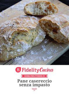 Naan, Pizza Recipes, Cooking Recipes, Pizza E Pasta, Pane Casereccio, No Knead Bread, Italian Bread, Antipasto, Bread Rolls
