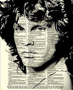 Jim Morrison, The Doors, Jim Morrison Art, Wall Decor, Art Print, Dictionary Art Print, Home Decor, Dictionary Page, Dictionary Print