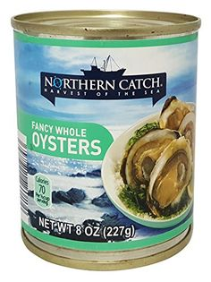Fancy Whole Oysters, (Pack of 12), 8 oz Can - Northern Catch -- Click on the image for additional details.