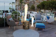 Terraza Lounge VIP de Starlite Marbella con la colección CARMELA de Carmen Barasona para ECUS y lampara BAT de Milan Iluminación. #ecus #milaniluminacion Lounge, Outdoor Furniture Sets, Outdoor Decor, Projects, Home Decor, Architectural Firm, Terrace, Rugs, Airport Lounge