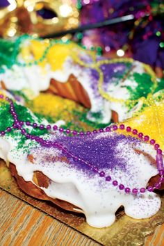 Mardi Gras King Cake Dessert Recipe
