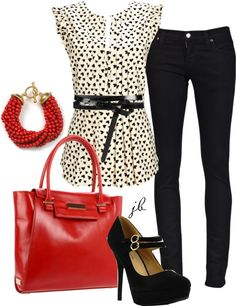 """""""Black and Red"""" by jliz516 on Polyvore"""
