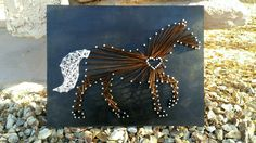 Horse lover Horse string art Cowgirl string art by CageDesigns