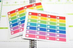 28 Rainbow Meal Planning Stickers For Your EC Life Planner