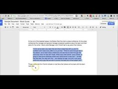 Free Technology for Teachers: How to Format Block Quotes in Google Documents
