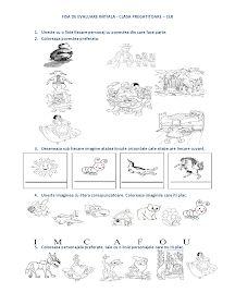 Fise de lucru - gradinita: FISA de evaluare initiala Clasa PREGATITOARE - CLR - Comunicare in limba romana Winter Crafts For Kids, Summer Crafts, Kindergarten Worksheets, Preschool Activities, Coloring For Kids, Coloring Pages, Kids Schedule, Stencil Patterns, Math For Kids