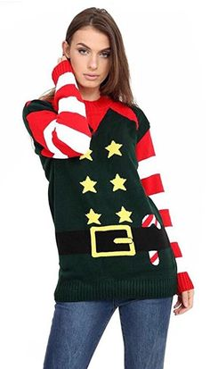 533c9ca633 Crazy Girls Unisex Mens Womens Reindeer Christmas Jumper Fairisle Xmas  Novelty Knitted Sweater Top S