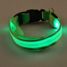 Glow in the Dark Nylon LED Lighted Cat & Dog Collar