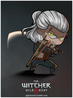 #Geralt #GeraltOfRivia #fanart #chibi #witcher #witcher3 #witcher3wildhunt