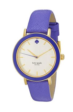 kate spade new york 'metro' enamel bezel leather strap watch, Kate Spade Watch, Jewelry Accessories, Fashion Accessories, Fossil Watches, Fashion Watches, Jewelry Watches, Turquoise, Bracelets, Vintage Sport