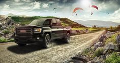 advertising design pitch for the GMC Sierra Revolution. made by www.sebastianwiessner.de