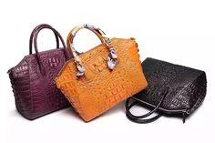 Genuine Crocodile Leather Women's Satchel Shoulder Bag - Rossieviren