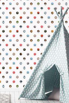 KEK Amsterdam behang van Martijn van der Linden (illustrator) - animal marbles