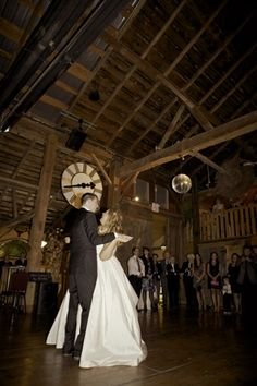 Bride And Groom Dance Hily At Their Chic Barn Wedding