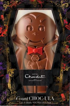 Count CHOC-ULA.  Too cute for Halloween. Who could ever eat this. Thaby share this packaging with us.