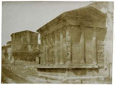 Rome, Temple of the Fortuna Virile (Virile fortune) 1850 Salt print from calotype