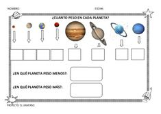 Fichas sobre el Sistema Solar | laclasedeptdemontse Blog, Music Instruments, How To Plan, Space, Natural, Kids Songs, Astronomy, Planets In Solar System, Cooperative Learning