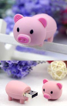 15 school items in pink. School supplies pig USB Source by kotemelequ