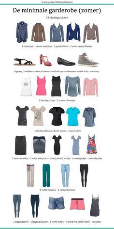 Bijna zomer! Wat heb je in de kast hangen? Wat kan er weg en moet er ook wat bij? Wat voor kleding voor de zomer is handig om in de kledingkast te hebben als je een voor minimale garderobe gaat? Natuurlijk kan het nóg minimalistischer, maar ik heb geprobeerd de kledinglijst zo toegankelijk mogelijk maken voor iedereen en tóch enigzins heel minimaal.