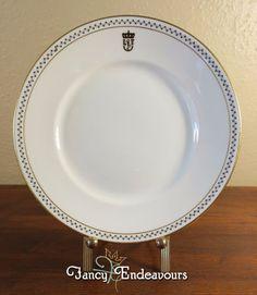1939 Italian Steamship Lines Richard Ginori Lloyd Triestino China Luncheon Plate #RichardGinori