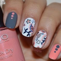 Nail art designs with awesome colors 2018