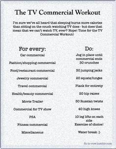 tv workout. such a good idea
