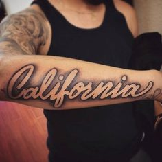 100 California Tattoo Designs for Men - Pacific Pride Ink Ideas Dope Tattoos, Forarm Tattoos, Forearm Tattoo Men, Leg Tattoos, Body Art Tattoos, Sleeve Tattoos, Last Name Tattoos, Names Tattoos For Men, Tattoo Sleeve Designs