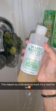 Body acne - Mario Badescu A H A Botanical Body Soap – Body acne Beauty Care, Beauty Skin, Beauty Tips, Diy Beauty, Beauty Hacks, Beauty Products, Homemade Beauty, Body Care Products, Healthy Skin Care