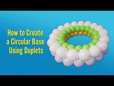 How to Create a Circular Base Using Duplets Balloon Columns, Balloon Wall, Balloon Arch, Balloon Ideas, Balloon Animals, Animal Balloons, Sunday School Crafts For Kids, Qualatex Balloons, Balloon Modelling