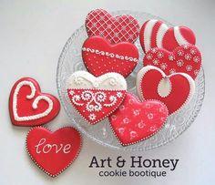 Valentine cookies........