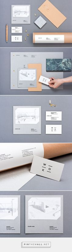 studio wok identity on Behance - created via https://pinthemall.net